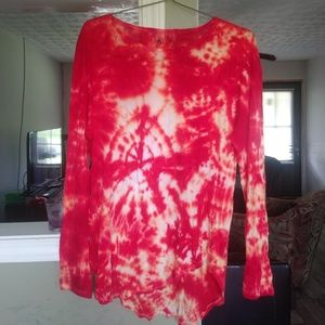 Anthro top tie dyed